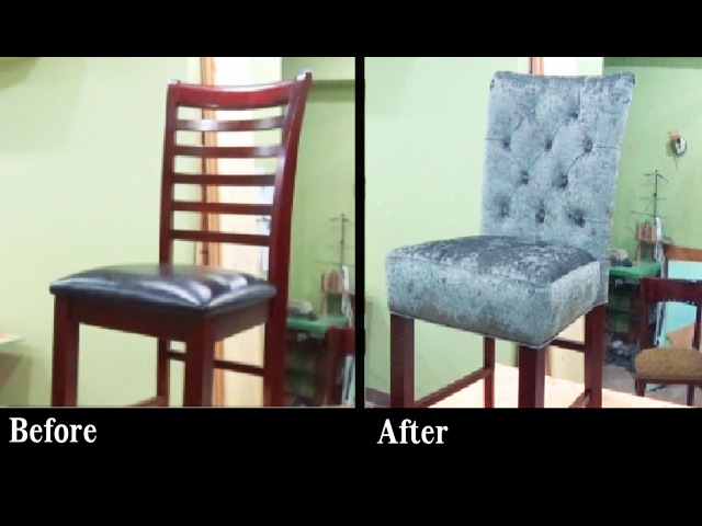DIY: HOW TO REUPHOLSTER A BAR STOOL WITH A BUILT IN SEAT - ALO Upholstery