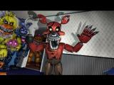 Plushtrap vs Nightmare Freddy Bonnie Chica Foxy Fredbear _ FNAF SFM