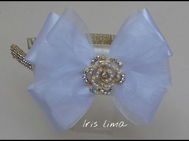 Como fazer laço tradicional / D.I.Y. ,Tutorial , Pap - How To Make a Hair Bow