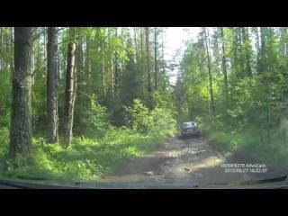 Дорога на Густосмесово ч2 (вид с регистратора позади меня)