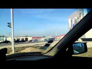 Нарушение полицейских в Шымкенте на проспекте Астаны.