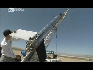 Дело техники. Запуск ракеты в пустыне.