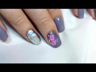 Укрепление ногтей акрилом, гель лак, акриловая лепка, литье, инкрустация стразами и кристаллами