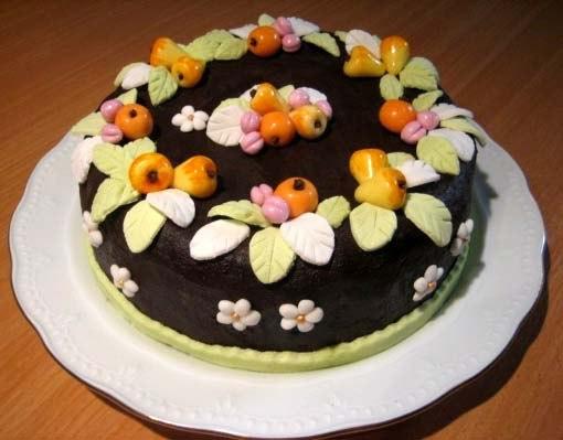 """Шоколадный торт с """"Фруктами"""""""