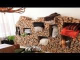 Как украсить дачный участок с помощью дров