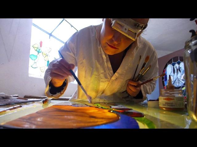 Judith Debryun, stained glass maker - vitrail-彩色玻璃