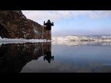 На коньках, Байкальский лед - Малое море - Ольхон -pure ice on Lake Baikal