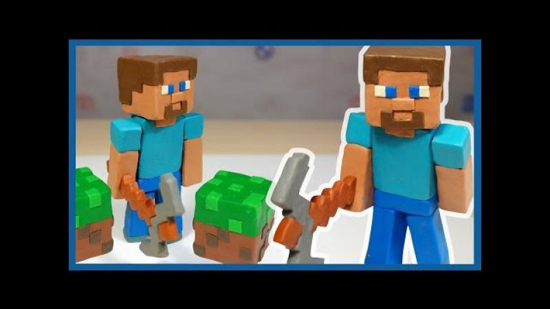 Лепим Стива. Майнкрафт из пластилина. MineCraft of plasticine.