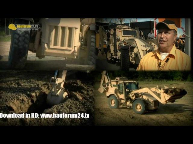 JCB Military Backhoe Loader HMEE Armoured Excavator Walkaround Details Bauforum24 Conexpo