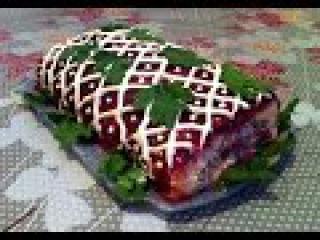 Салат Селедка под Шубой в Рулете/Простой Рецепт(Быстро и Вкусно)Herring Salad