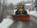 JCB Eco 4CX Snow plowing