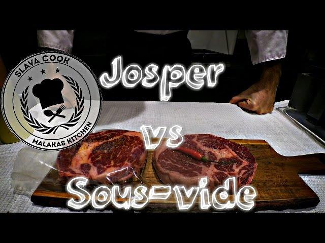 Josper vs sous vide. Рибай стейк на гриле