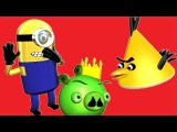ANGRY BIRDS and the MINIONS ♫ 3D animated DESPICABLE ME parody-mashup ☺ FunVideoTV - Style -