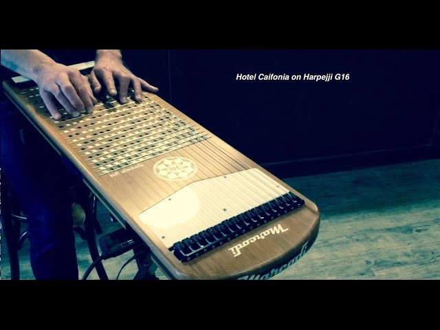 Hotel California (The Eagles) on harpejji g16 by Mathieu Terrade.
