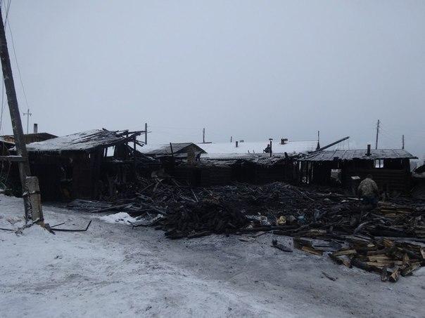 На Пинежье огнеборцы спасли два 2-этажных деревянных дома