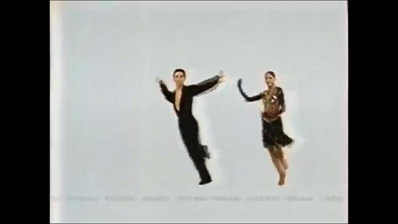 Staroetv.su - Рекламные заставки (ОРТ, 03.04.2001-20.05.2001) Танцы