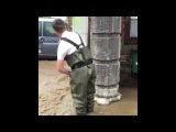 Dramatic Video of Flooding in Dison, Belgium