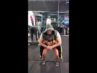 How to squat a 118 kg/ 260 pound guy for weight loss and sexy legs girl friend!