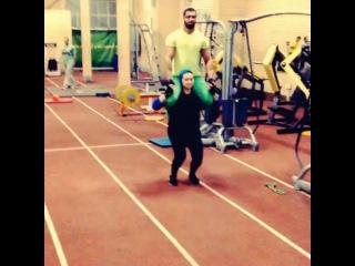 "lift on Instagram: ""Athlet iranian woman leyla rajabi lift her big husband she is soooooo strong #leylarajabi #liftcarry #liftandcarry #piggybackride…"""