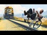 Приколы в играх WDF 5 Тревор останавливает поезд Смешные моменты из GTA 5 и cs 1.6