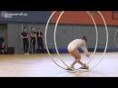 Танец гимнастки на колесе