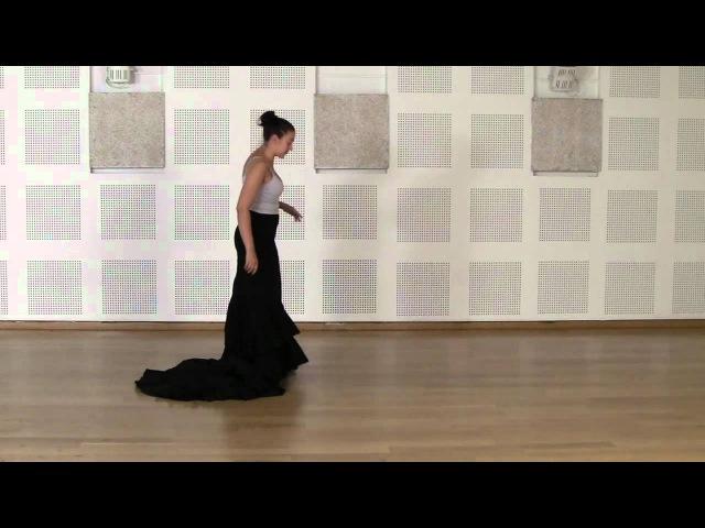 Técnica avanzada de bata de cola flamenca Cogida 1