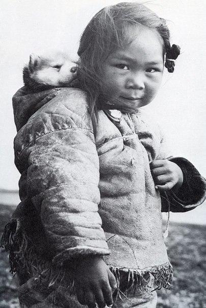Маленькая эскимоска и её хаски