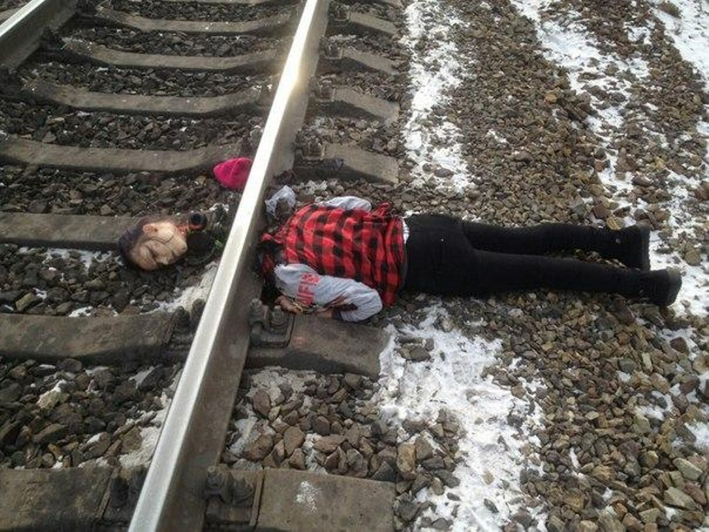 Попадание под поезд