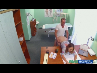 Sexy housewife cheats on hubby with her doctor