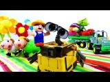 Видео для детей Робот ВАЛЛИ и Фермер. Роботы Игрушки! Wall E - Видео Dailymotion