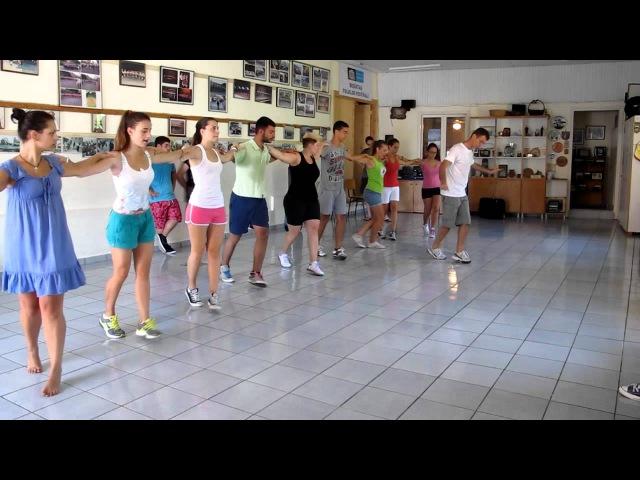 Sirtaki - Corfu dancers rehearse the Zorba dance in Sinies