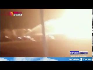 Причиной сильного пожара на автозаправке в Грозном могла стать утечка газа
