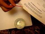Удаление пятен на бумаге перекисью водорода Hydrogen Peroxide paper cleaning