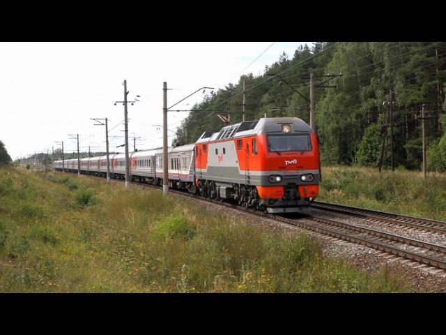 ЭП2К-314 и ЭД4М-0283 встречаются на перегоне Гжель - Куровская Московской железной дороги.