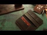 Работа с кожей. Кожаный кошелек своими руками. Трэвэлер. Making leather wallet