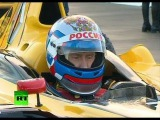 Putin puts foot down in Formula One car, speeds up to 240 kmh