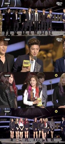 '2015 MAMA' iKON и Twice берут награду новичка среди мужских и женских групп