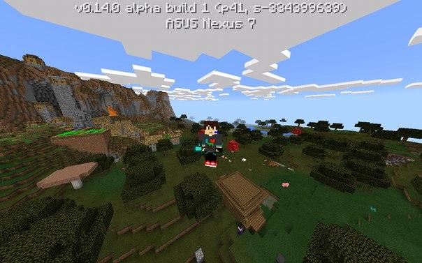 Сид на хижину+деревню в minecraft pe 0.14.0