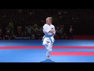 Kata Gankaku vs Kata Heiku. Bronze Medal. 2014 World Karate Championships