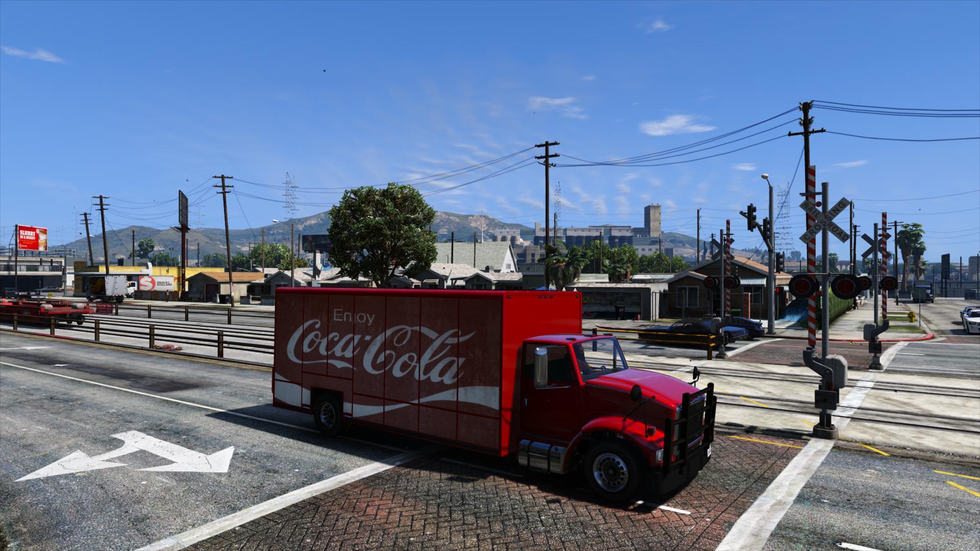 гузовик Кока-Кола в гта5 2016
