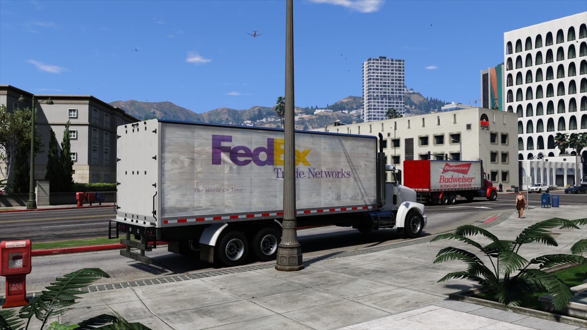 грузовик FedEx в GTA5