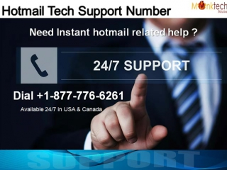 Dial Hotmail Support 1-877-776-6261 to Acquire Instant Help