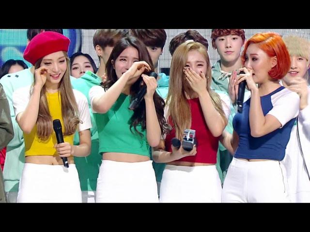 《Inkigayo WIN》 인기가요 1위 발표 마마무(MAMAMOO) - 넌 is 뭔들(Youre the best) 20160306