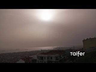 Αμμοθύελλα στη Θεσσαλονίκη   Dust Storm in Greece 2016