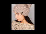 Вязаная шапка спицами♥Модная,простая женская шапкамастер класс 2017♥lesson 1.Шапка...