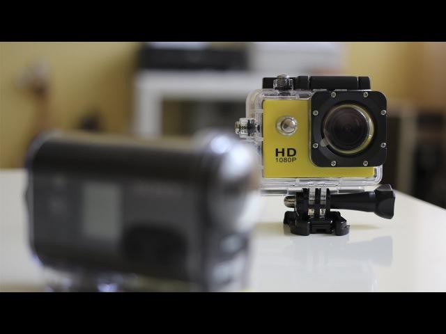 Экшн-камера SJ4000 vs Sony HDR-AS30V video comparison | 720p
