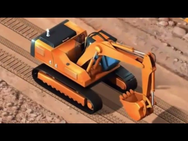 Спецтехника для детей Грузовик бетономешалка экскаватор каток трактор кран бульдозер