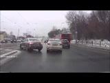ДТП\авария. Трамвай снес несколько машин Казань