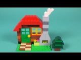 Lego Log Cabin Building Instructions - Lego Classic 10695