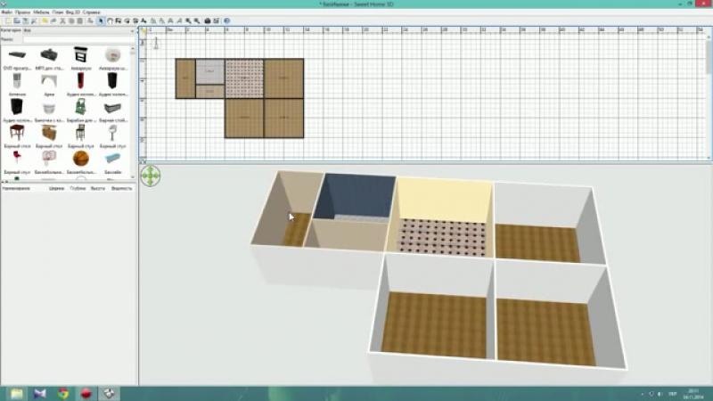 Коридор в доме - Дом1 - Ep.1 - Интерьеры от Unfiny - Уроки по Sweet Home 3d